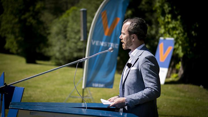 Gense talerne fra blandt andre Venstres formand Jakob Ellemann-Jensen på Grundlovsdag 2021.