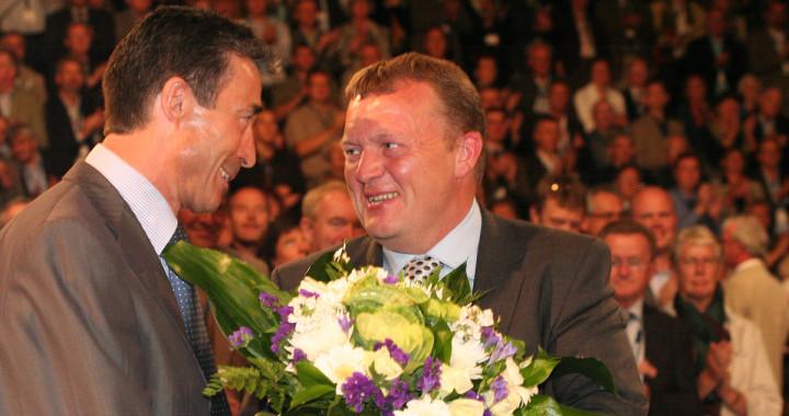 Lars Løkke Rasmussen blev statsminister i 2009 som efterfølger til Anders Fogh Rasmussen.