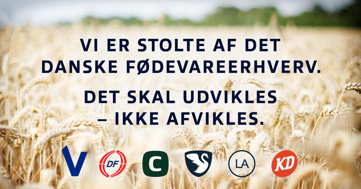 Blå blok er stolte af det danske fødevareerhverv og ønsker at udvikle det fremfor at afvikle det.
