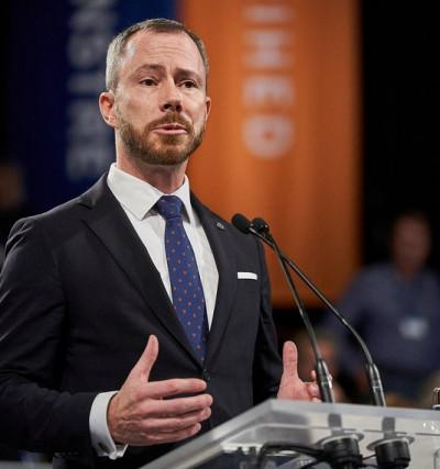 Lars Løkke Rasmussen på talerstolen